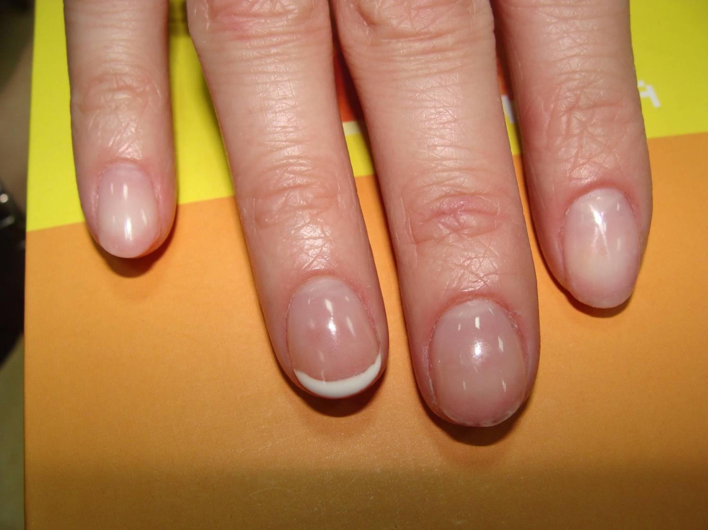 Наращивание на короткие ногти фото до и после